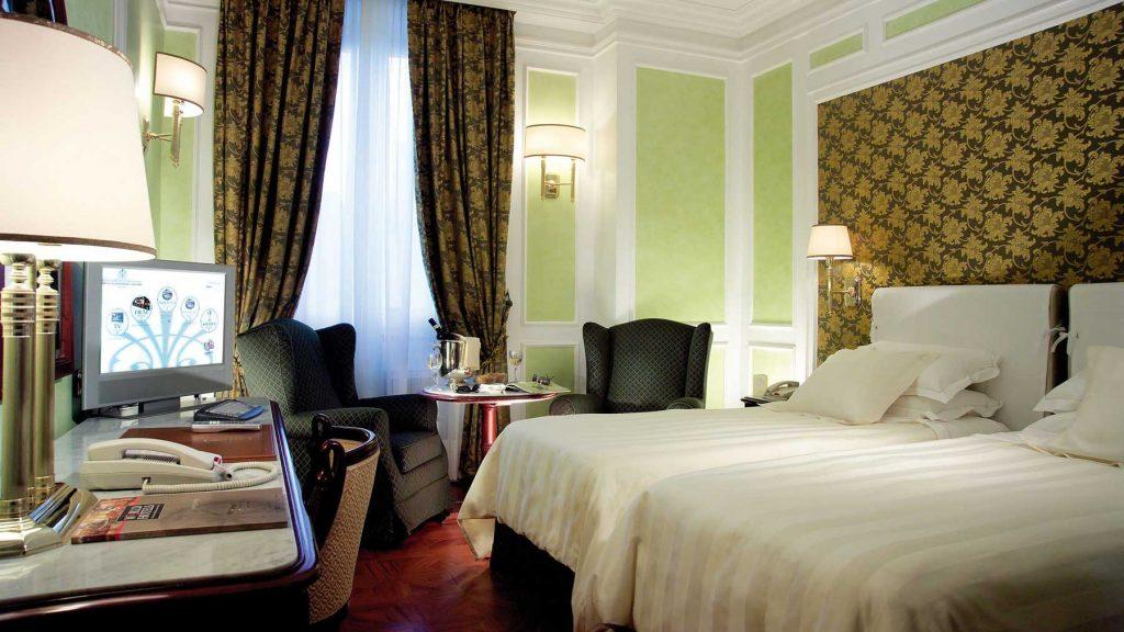 Une chambre de l'hôtel Montebello Splendid (Florence, Italie)