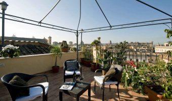 Hotel Trevi Rome Italie : hôtel de charme 3 étoiles avec terrasse panoramique