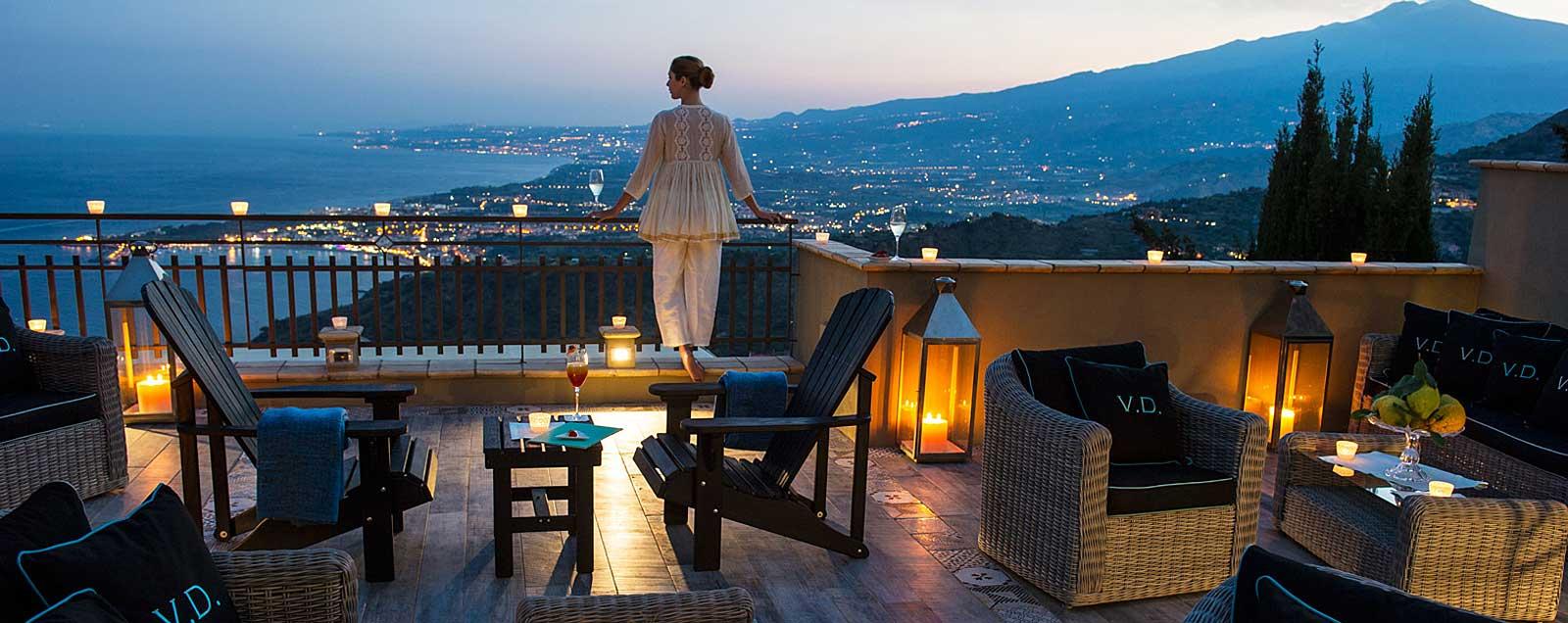 Villa Ducale Boutique Hotel Taormina, Sicile (terrasse panoramique)
