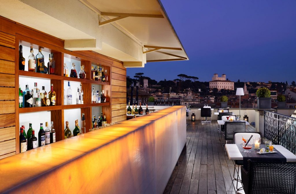 The First Art Hotel Rome : Terrasse panoramique Acquaroof