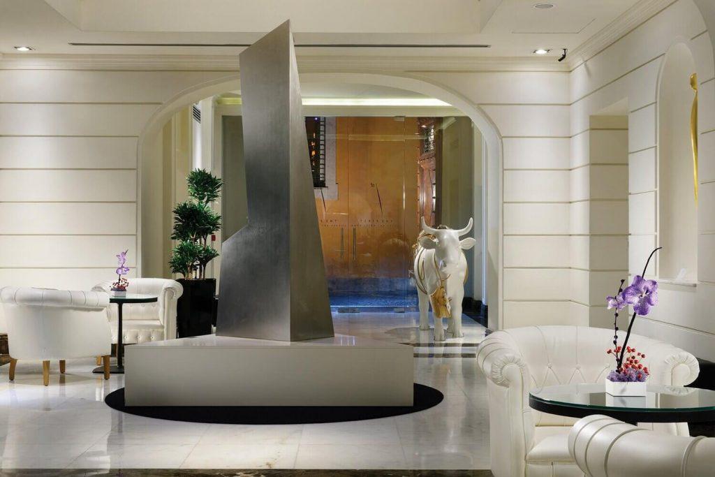 Hall d'accueil The First Arte, boutique hotel 5 étoiles Rome Italie