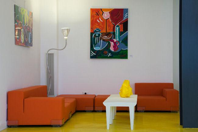 Un salon de l'hotel Correra 241, Naples
