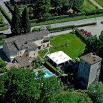 Relais Torre Santa Flora, hotel de charme en Toscane, Italie (vue aérienne)